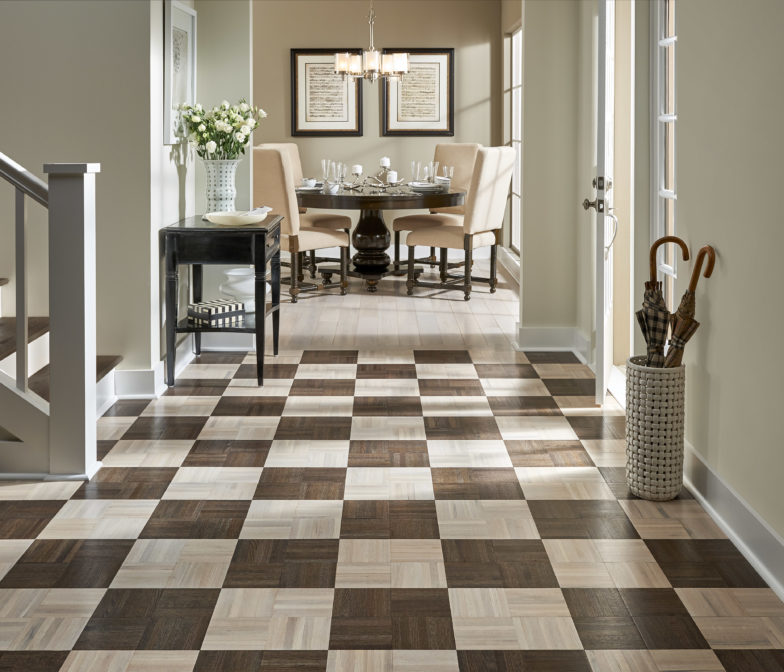 Cost of vinyl tile flooring out couple for Armstrong homes price per square foot